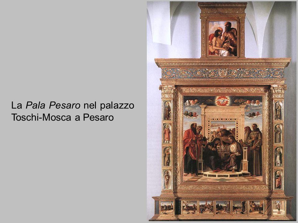 Giovanni Bellini, Predella della Pala Pesaro (1471-74) È il nostro esempio per sottolineare la chiusura dello spazio figurativo, il suo porsi come una scena che non ha relazione con lo spazio reale del mondo.