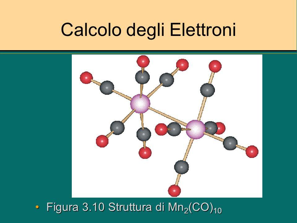 Calcolo degli Elettroni Figura 3.11 Struttura Ru 3 (CO) 12Figura 3.11 Struttura Ru 3 (CO) 12