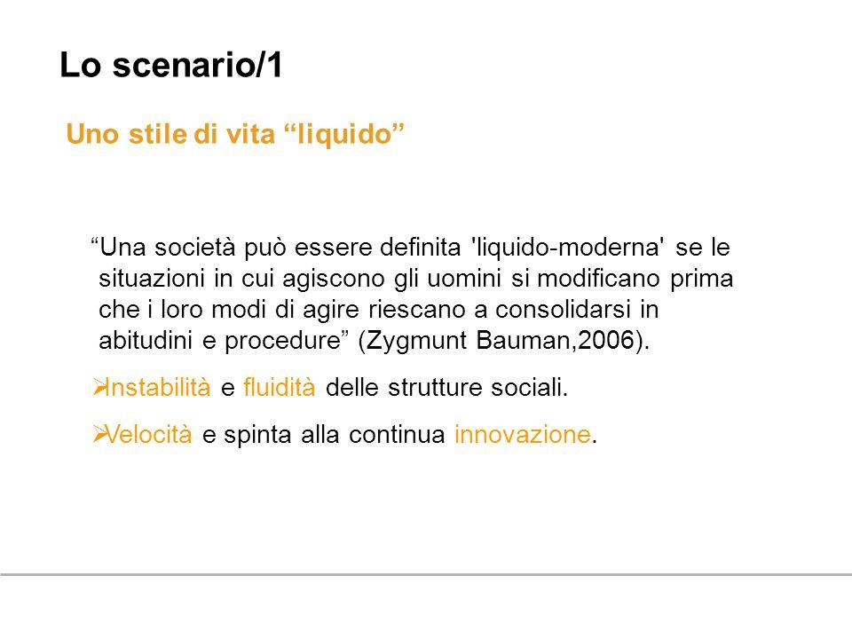 Uno stile di vita liquido Una società può essere definita 'liquido-moderna' se le situazioni in cui agiscono gli uomini si modificano prima che i loro