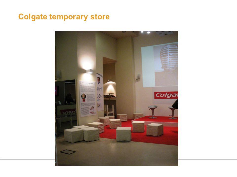 Colgate temporary store