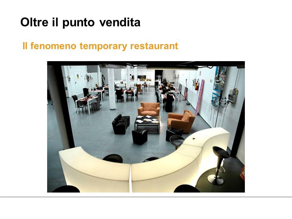 Il fenomeno temporary restaurant Oltre il punto vendita