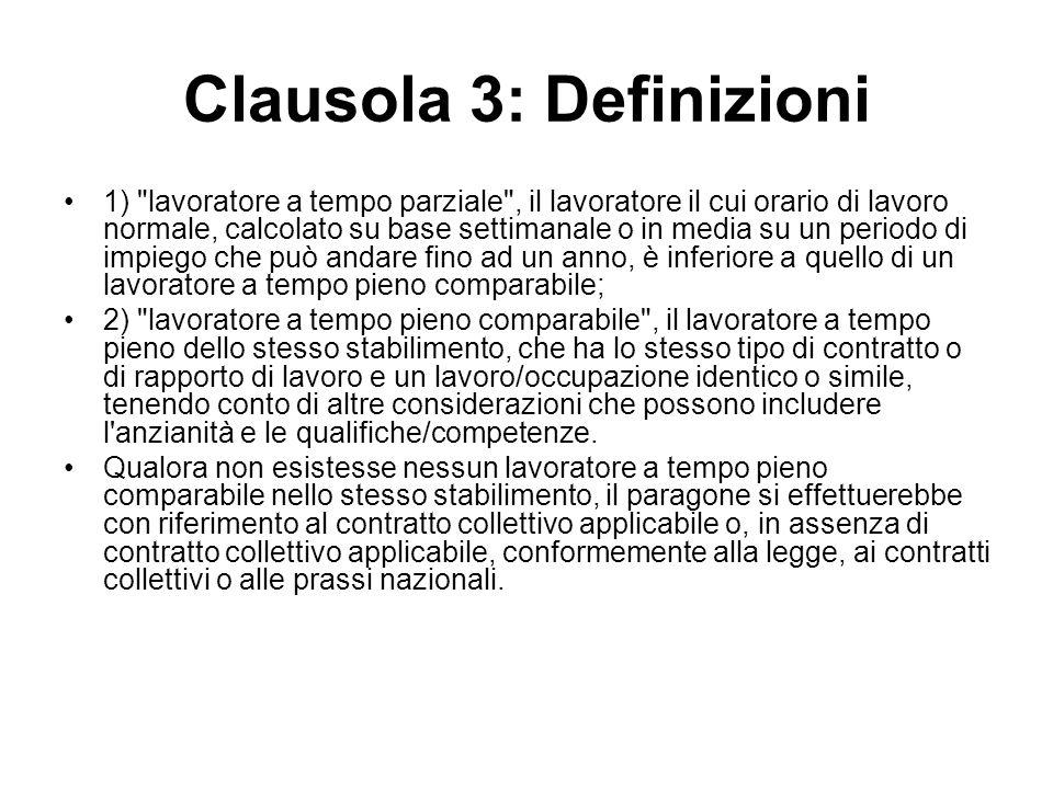 Clausola 3: Definizioni 1)