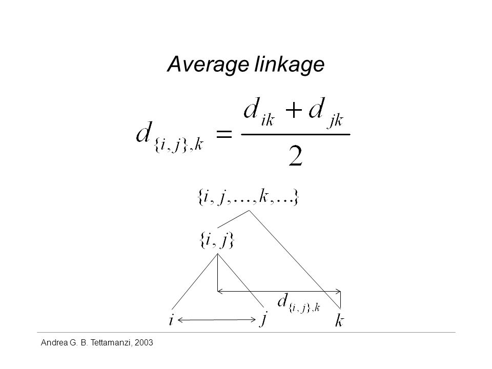 Andrea G. B. Tettamanzi, 2003 Average linkage