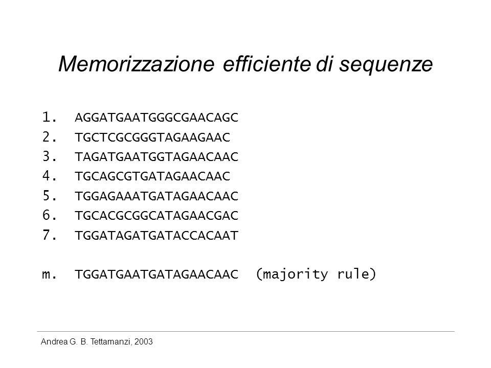 Andrea G. B. Tettamanzi, 2003 Memorizzazione efficiente di sequenze 1.