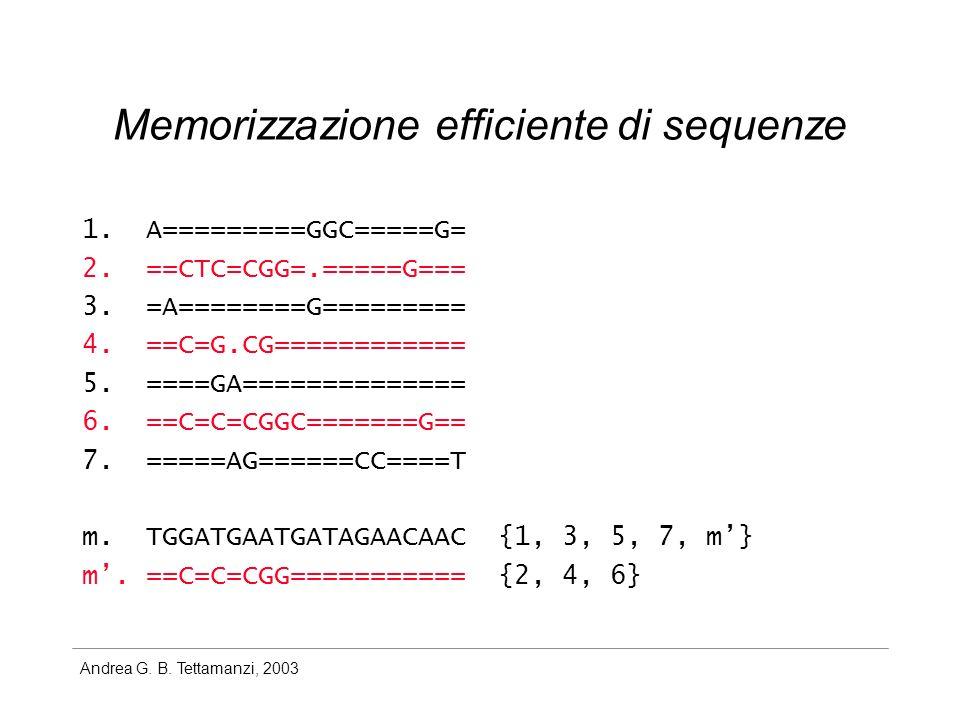 Andrea G. B. Tettamanzi, 2003 1. A=========GGC=====G= 2.