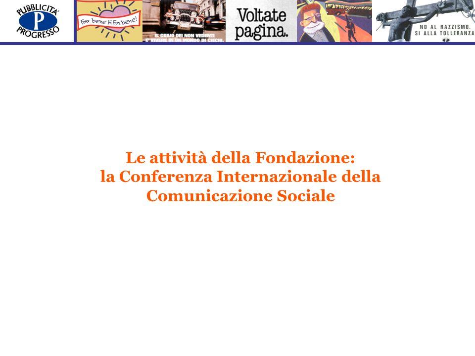 Le attività della Fondazione: la Conferenza Internazionale della Comunicazione Sociale
