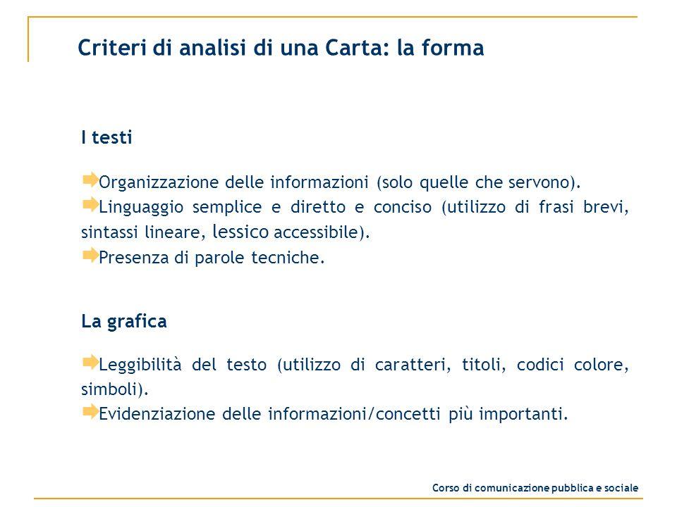 I testi Organizzazione delle informazioni (solo quelle che servono).