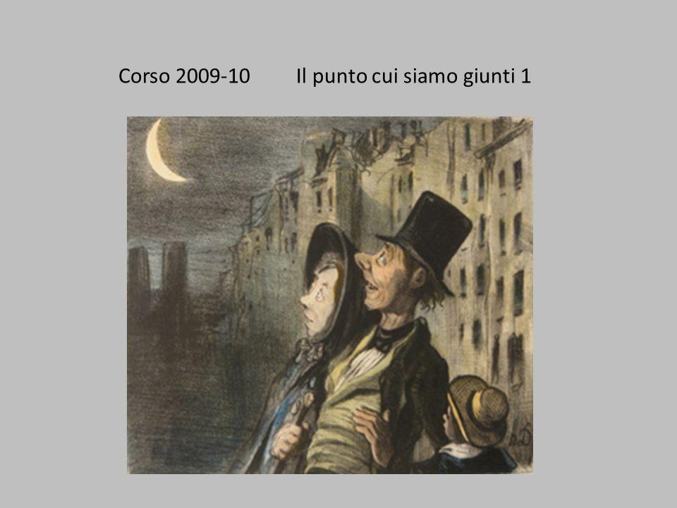Corso 2009-10 Il punto cui siamo giunti 1