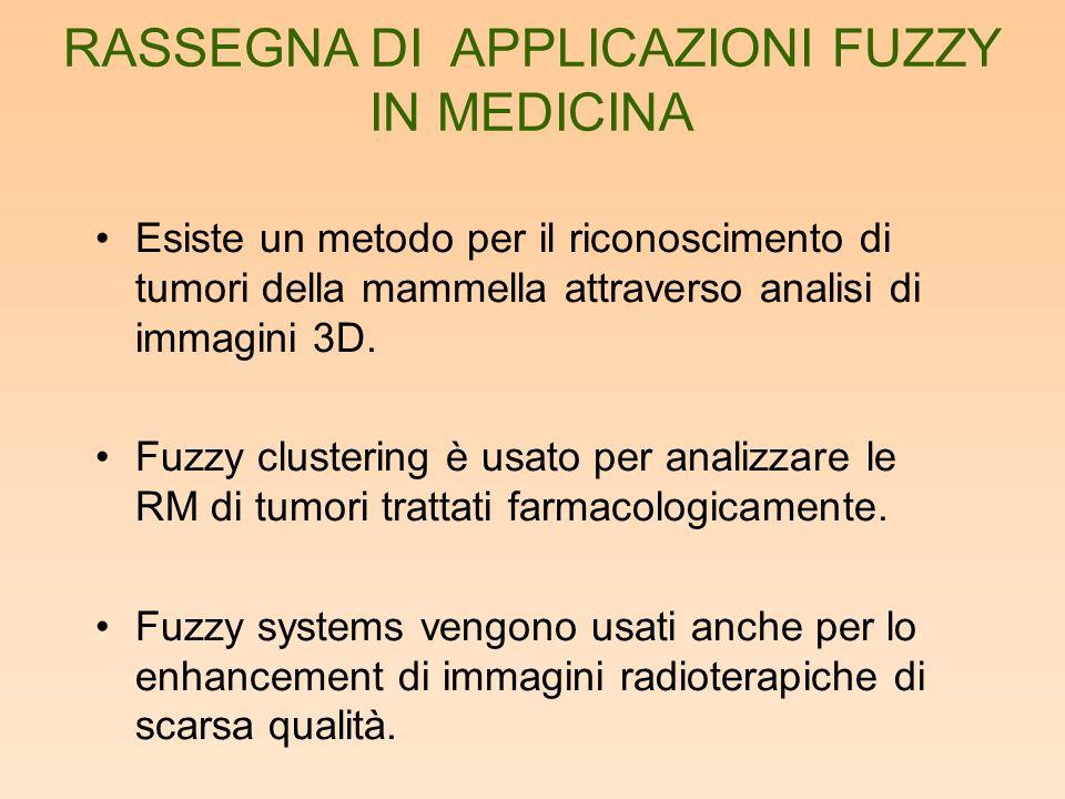 Esiste un metodo per il riconoscimento di tumori della mammella attraverso analisi di immagini 3D. Fuzzy clustering è usato per analizzare le RM di tu