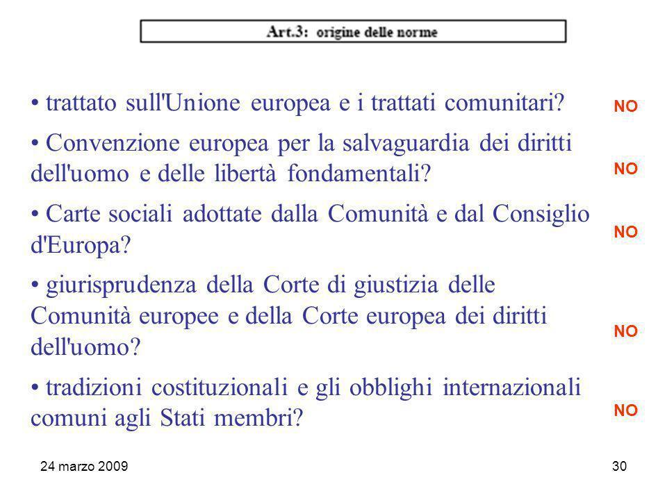 24 marzo 200930 trattato sull Unione europea e i trattati comunitari.