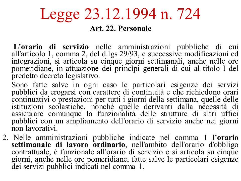 Legge 23.12.1994 n. 724 Art. 22.