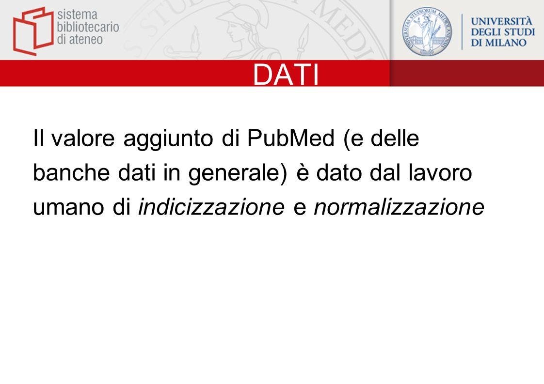 RISULTATI PubMed fornisce il record bibliografico e, quando disponibili, labstract e il full-text dellarticolo recuperato.