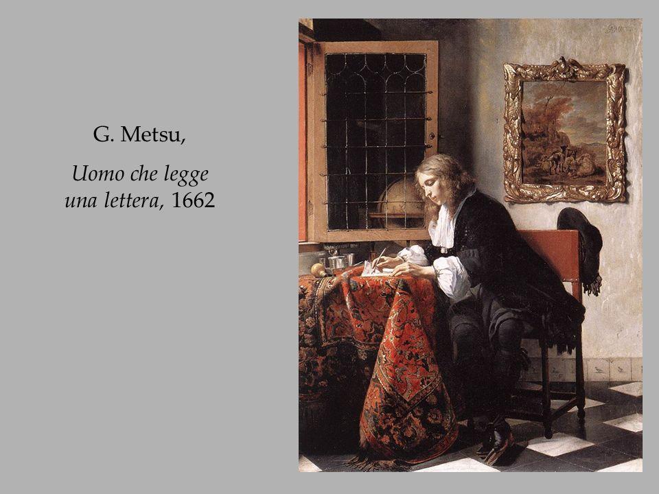 G. Metsu, Ragazza sorpresa mentre legge una lettera, 1660