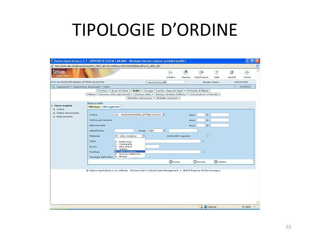 TIPOLOGIE DORDINE 35