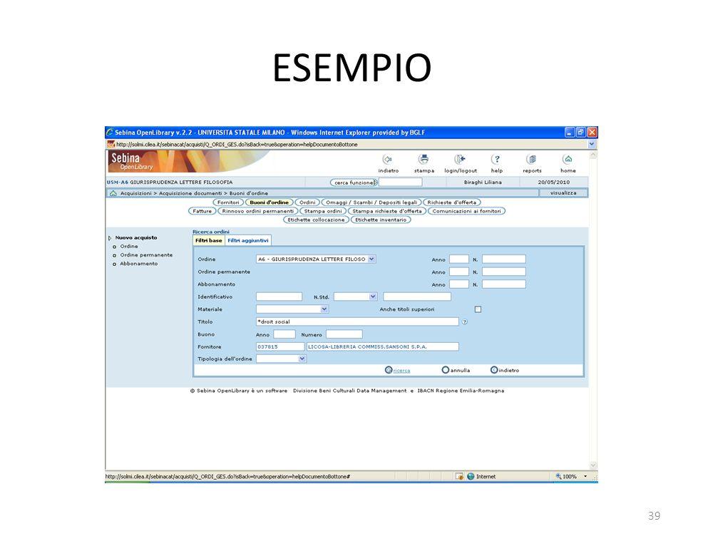 ESEMPIO 39