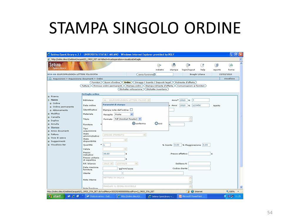 STAMPA SINGOLO ORDINE 54