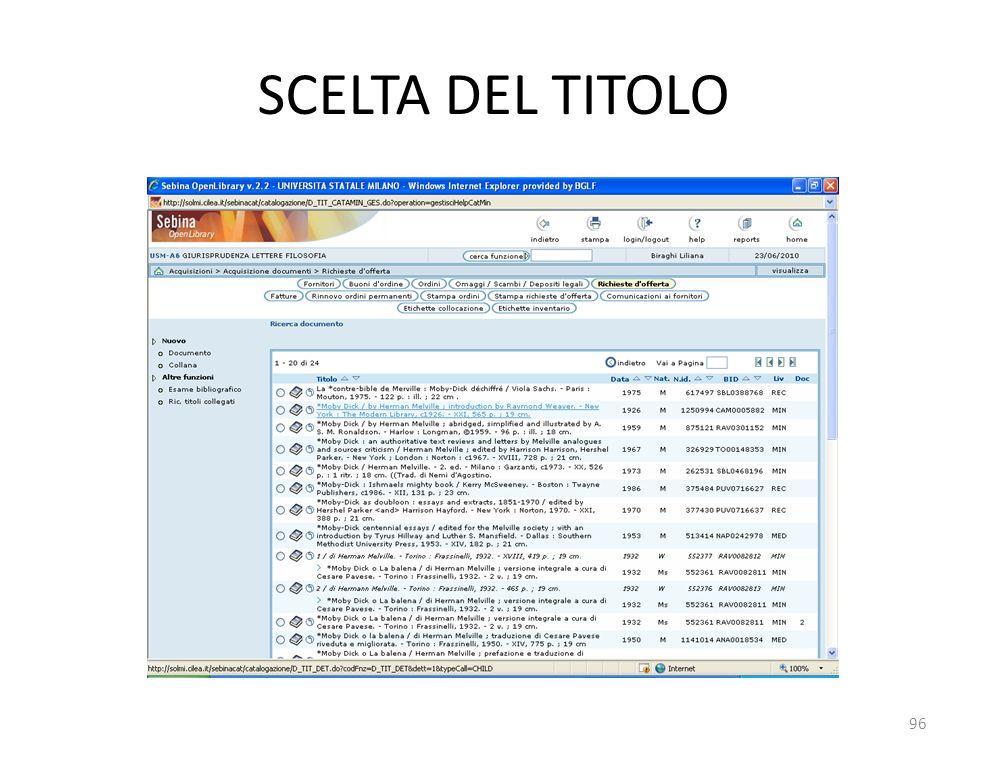 SCELTA DEL TITOLO 96