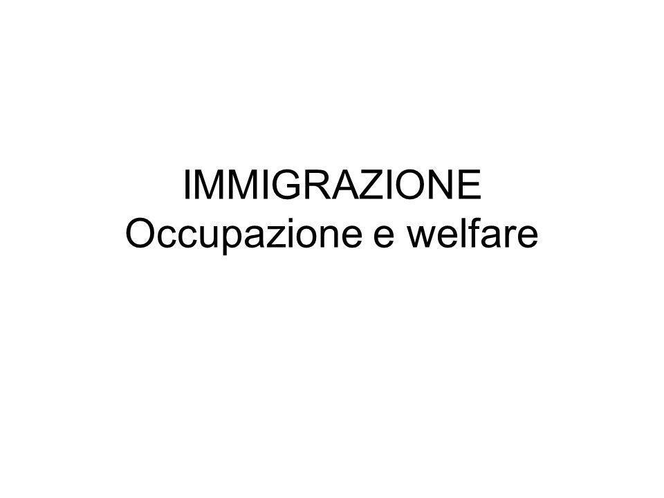 IMMIGRAZIONE Occupazione e welfare