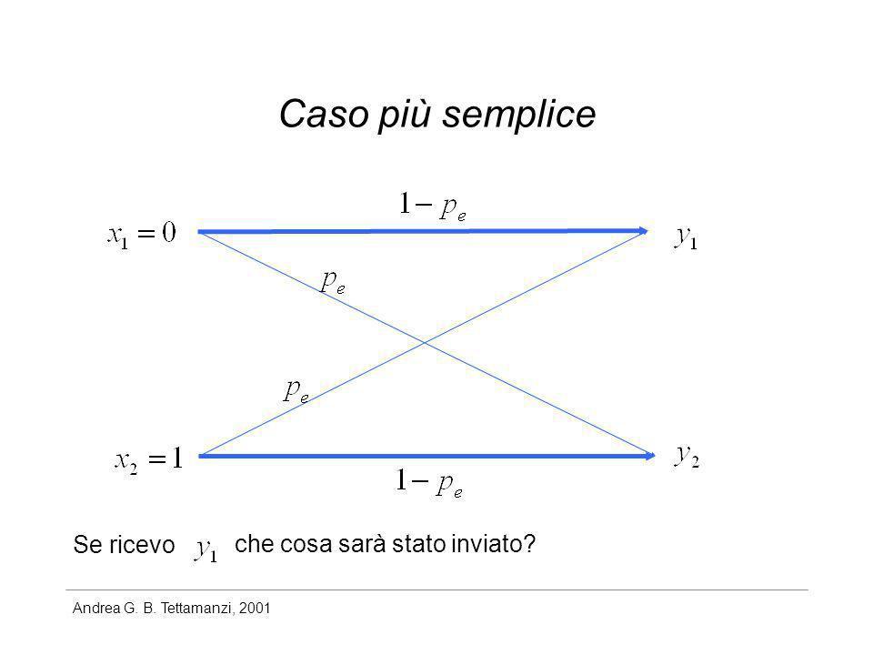 Andrea G. B. Tettamanzi, 2001 Caso più semplice Se ricevo che cosa sarà stato inviato?