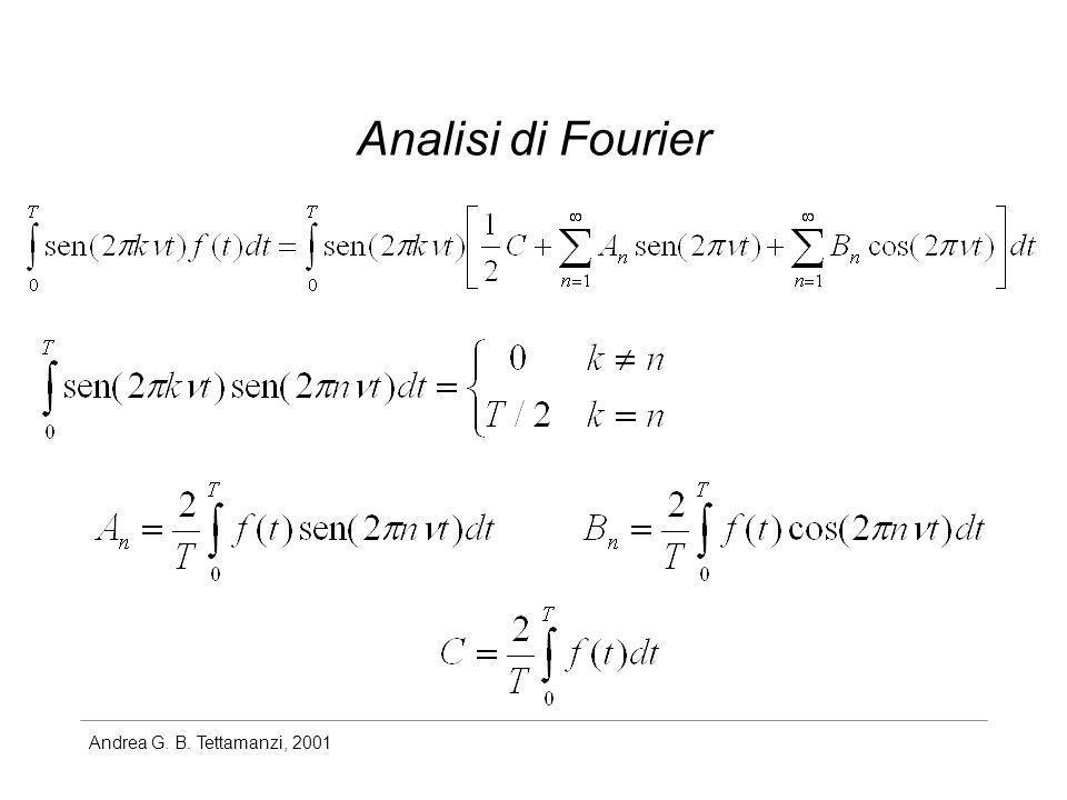 Andrea G. B. Tettamanzi, 2001 Analisi di Fourier