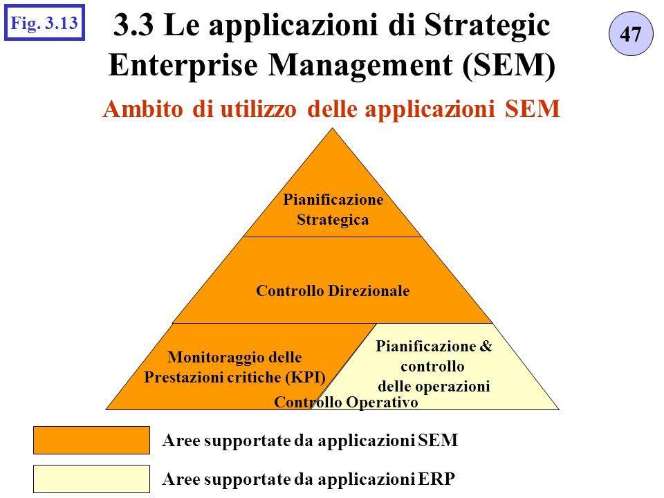 Ambito di utilizzo delle applicazioni SEM 47 3.3 Le applicazioni di Strategic Enterprise Management (SEM) Fig.