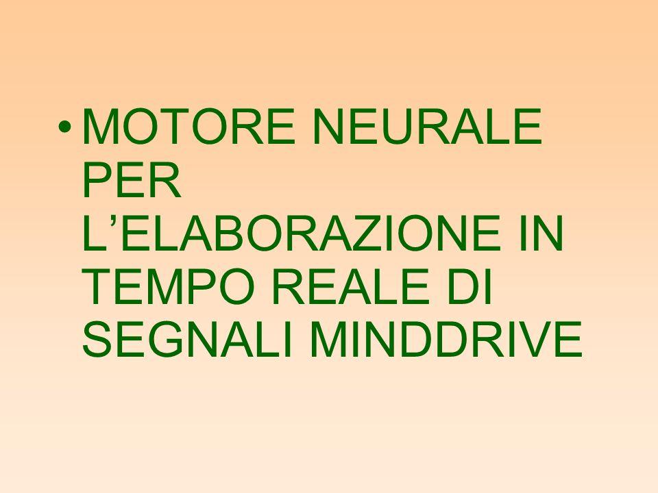 MOTORE NEURALE PER LELABORAZIONE IN TEMPO REALE DI SEGNALI MINDDRIVE