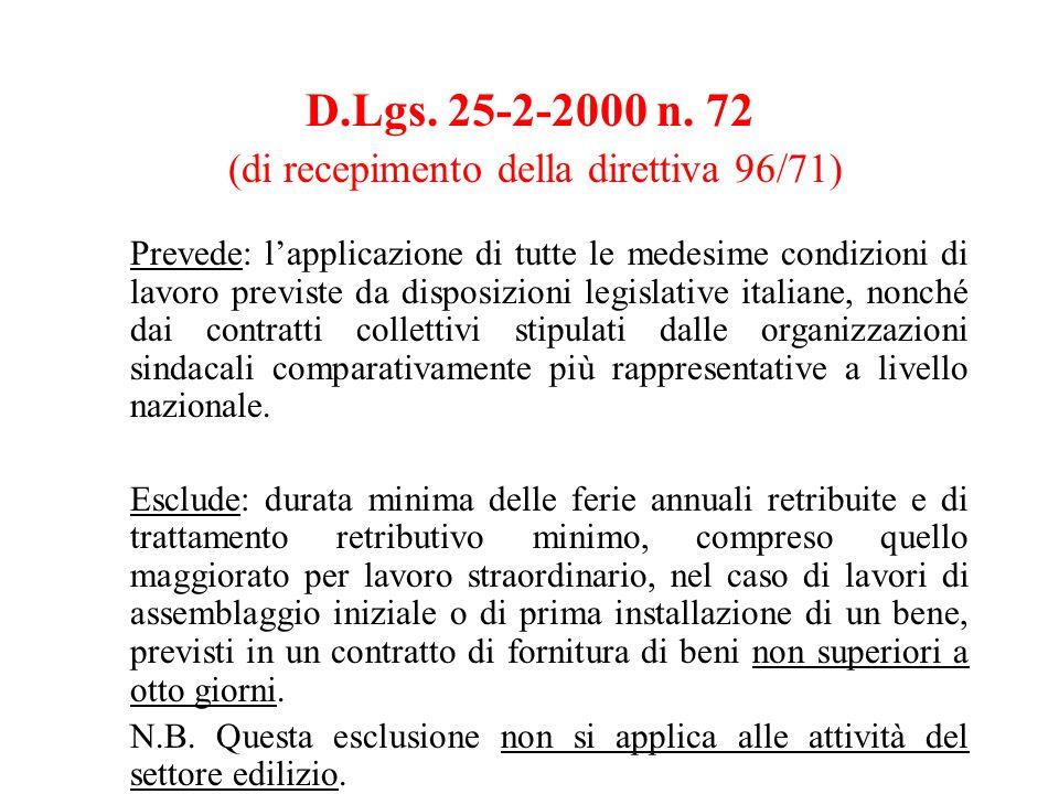 D.Lgs. 25-2-2000 n.