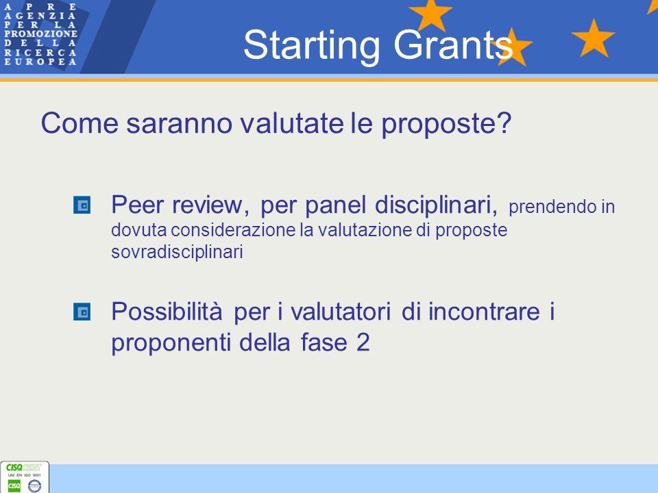 Come saranno valutate le proposte? Peer review, per panel disciplinari, prendendo in dovuta considerazione la valutazione di proposte sovradisciplinar