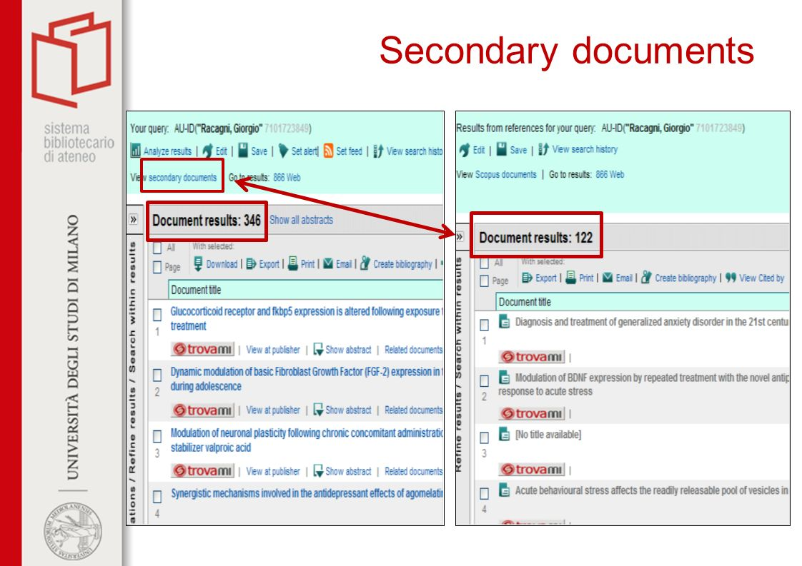 Secondary documents