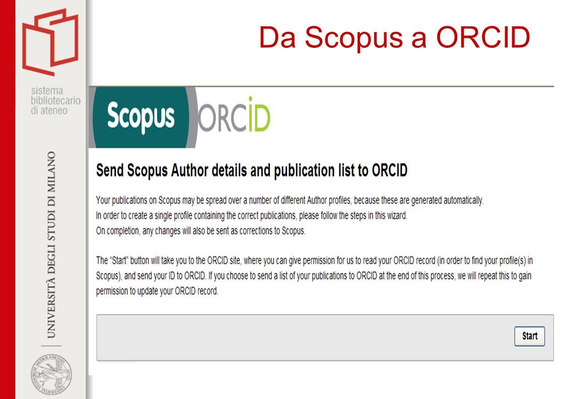 Da Scopus a ORCID