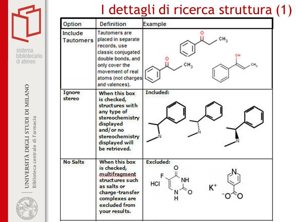 Biblioteca centrale di Farmacia I dettagli di ricerca struttura (1)