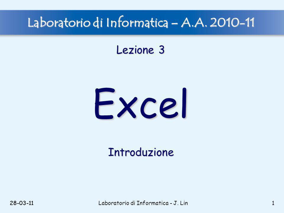 28-03-11Laboratorio di Informatica - J.