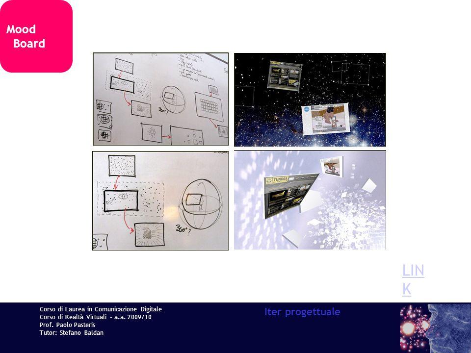 Corso di Laurea in Comunicazione Digitale Corso di Realtà Virtuali - a.a. 2009/10 Prof. Paolo Pasteris Tutor: Stefano Baldan Iter progettuale Mood Boa