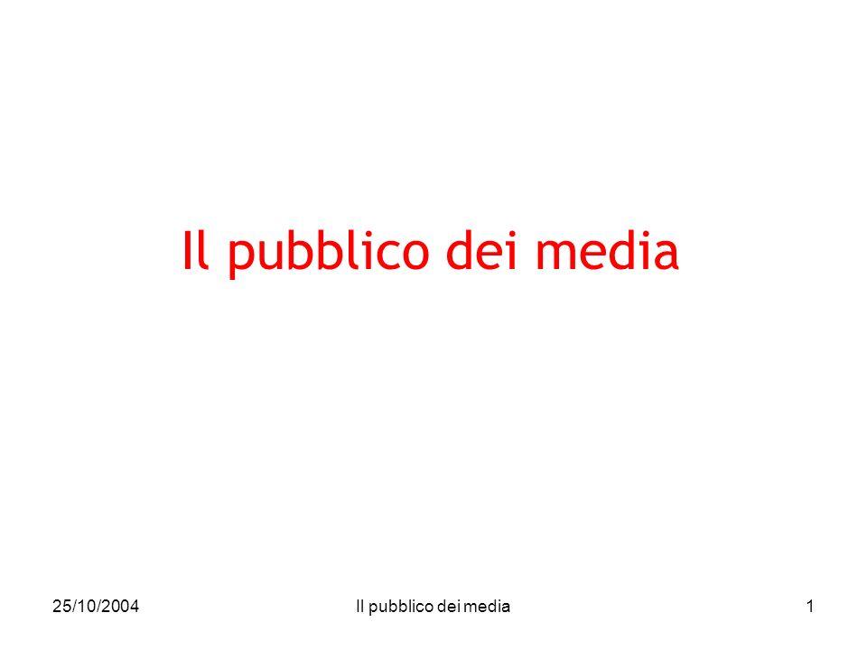 25/10/2004Il pubblico dei media1