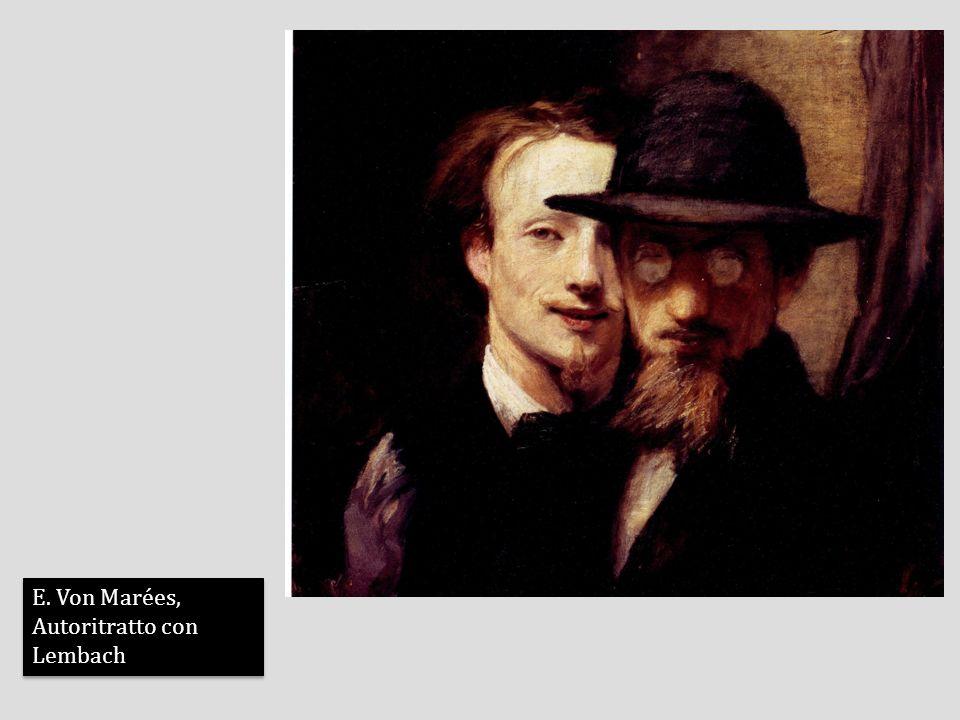 E. Von Marées, Autoritratto con Lembach E. Von Marées, Autoritratto con Lembach