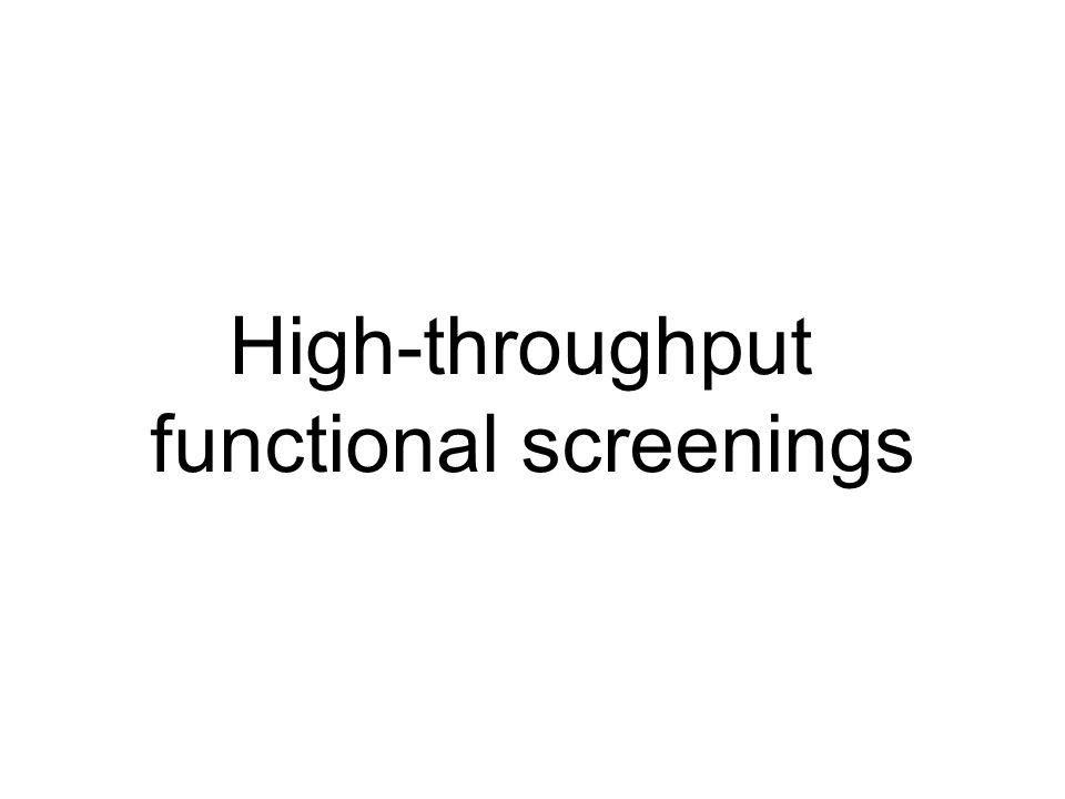 High-throughput functional screenings
