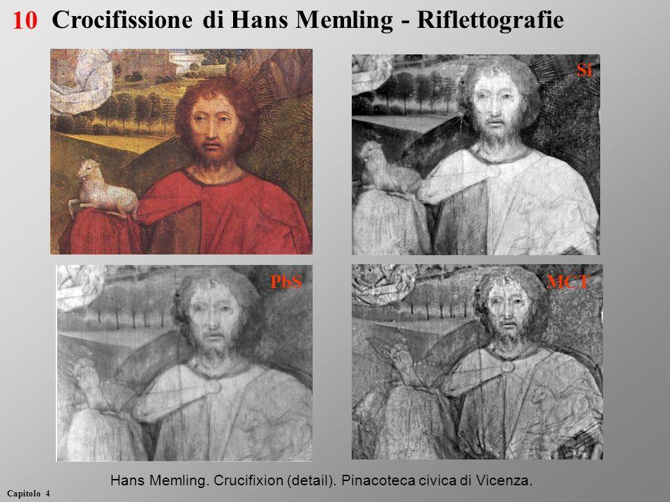 Si PbS MCT Hans Memling. Crucifixion (detail). Pinacoteca civica di Vicenza. 10 Capitolo 4 Crocifissione di Hans Memling - Riflettografie