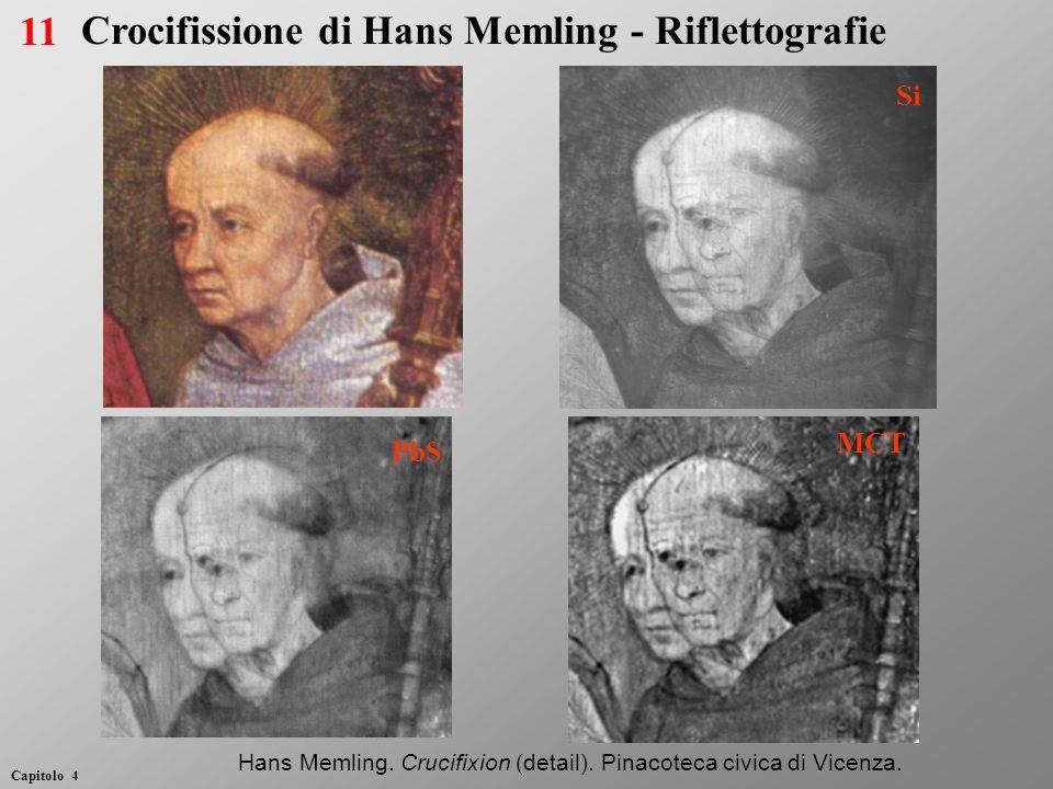 Si PbS MCT Hans Memling. Crucifixion (detail). Pinacoteca civica di Vicenza. 11 Capitolo 4 Crocifissione di Hans Memling - Riflettografie