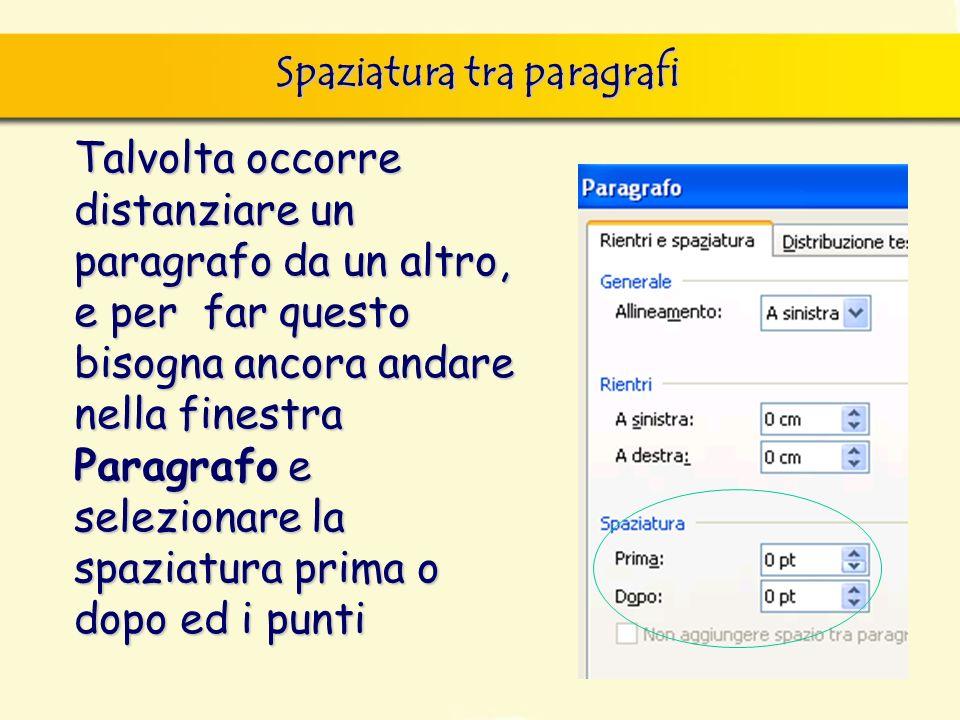 Spaziatura tra paragrafi finestra di dialogo Nuovo, nella quale si può scegliere sia il documento vuoto, sia un altro documento tipo, da scegliere tra
