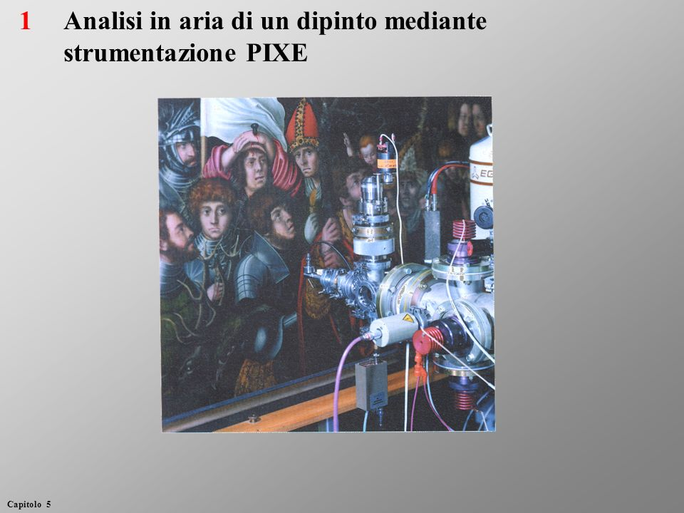 Analisi in aria di un dipinto mediante strumentazione PIXE 1 Capitolo 5