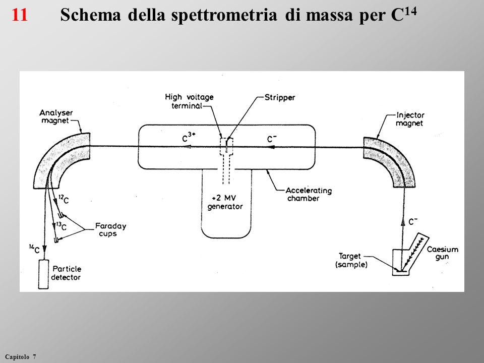 11Schema della spettrometria di massa per C 14 Capitolo 7