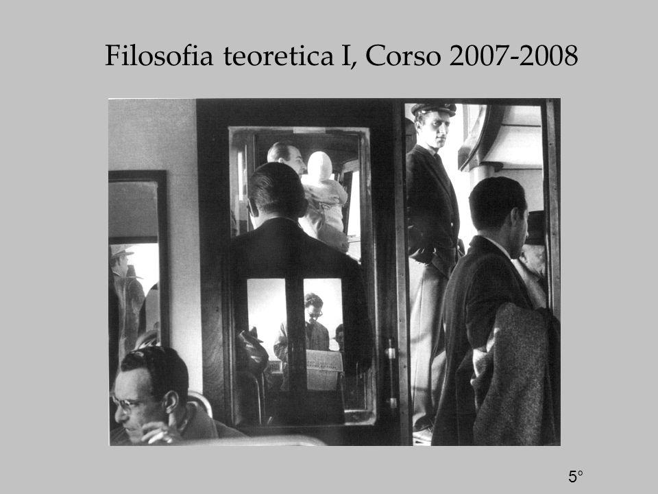 Filosofia teoretica I, Corso 2007-2008 5°