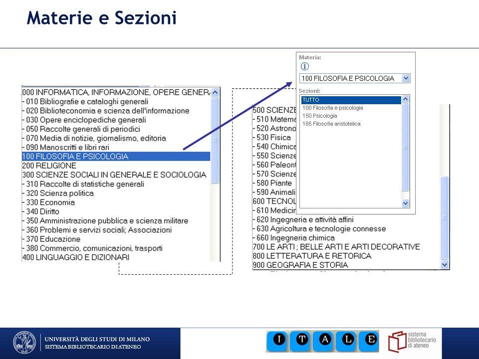 SISTEMA BIBLIOTECARIO DI ATENEO CDD 21 ed.e 14 ed.