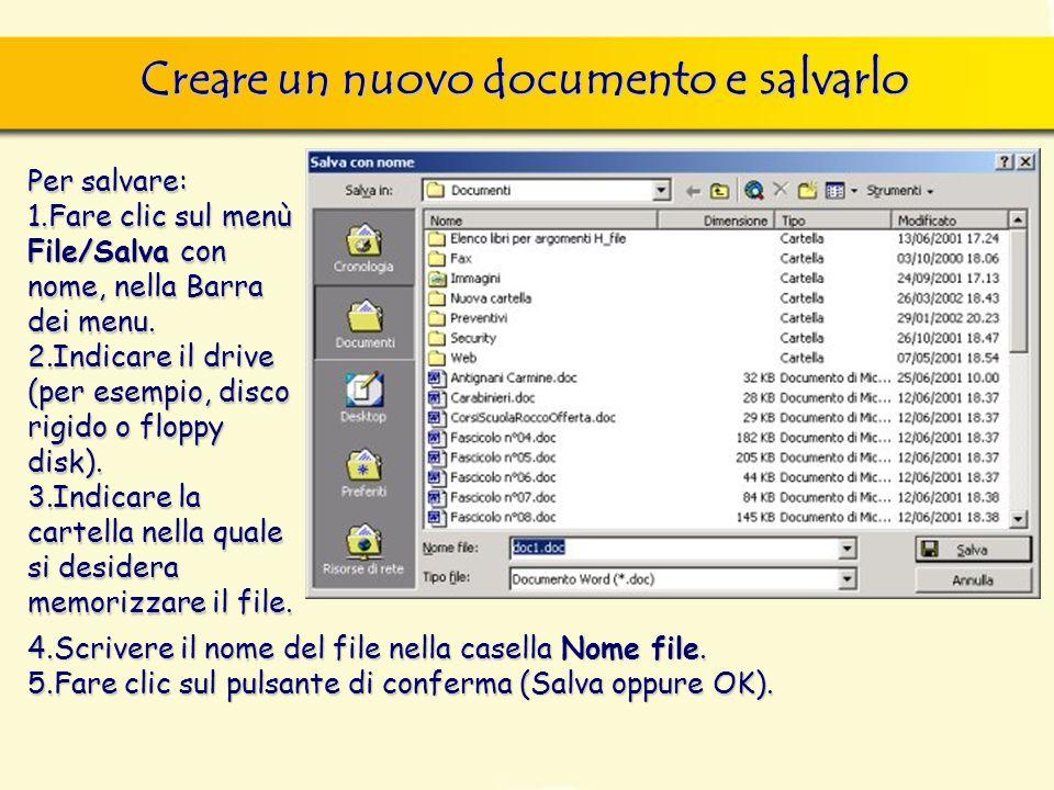 Uno stesso documento, può essere salvato in molte estensioni diverse, come: DIZIONARIO.DOCDIZIONARIO.DOTDIZIONARIO.RTFDIZIONARIO.MCWDIZIONARIO.TXTDIZIONARIO.HTM Salvare in un altro formato
