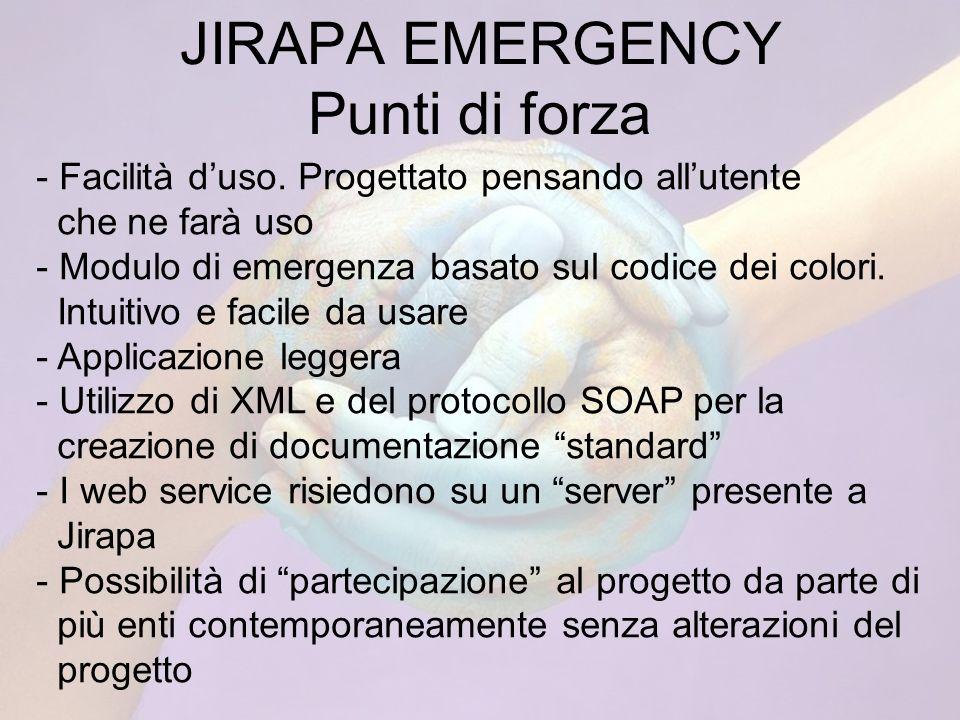 JIRAPA EMERGENCY Punti di forza - Facilità duso.