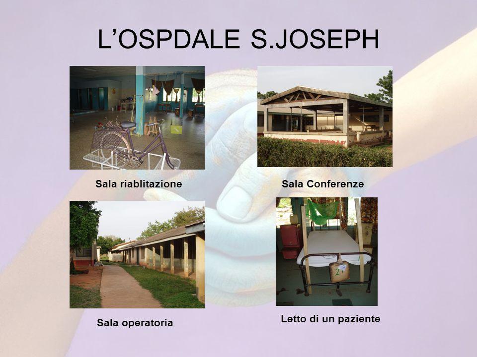 LOSPDALE S.JOSEPH Sala riablitazioneSala Conferenze Sala operatoria Letto di un paziente