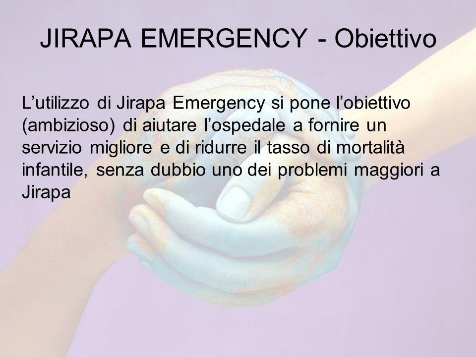 JIRAPA EMERGENCY - Obiettivo Lutilizzo di Jirapa Emergency si pone lobiettivo (ambizioso) di aiutare lospedale a fornire un servizio migliore e di ridurre il tasso di mortalità infantile, senza dubbio uno dei problemi maggiori a Jirapa