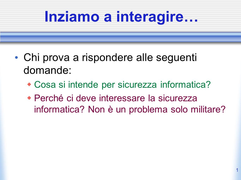 Elementi di Sicurezza e Privatezza Lezione 1 Chiara Braghin