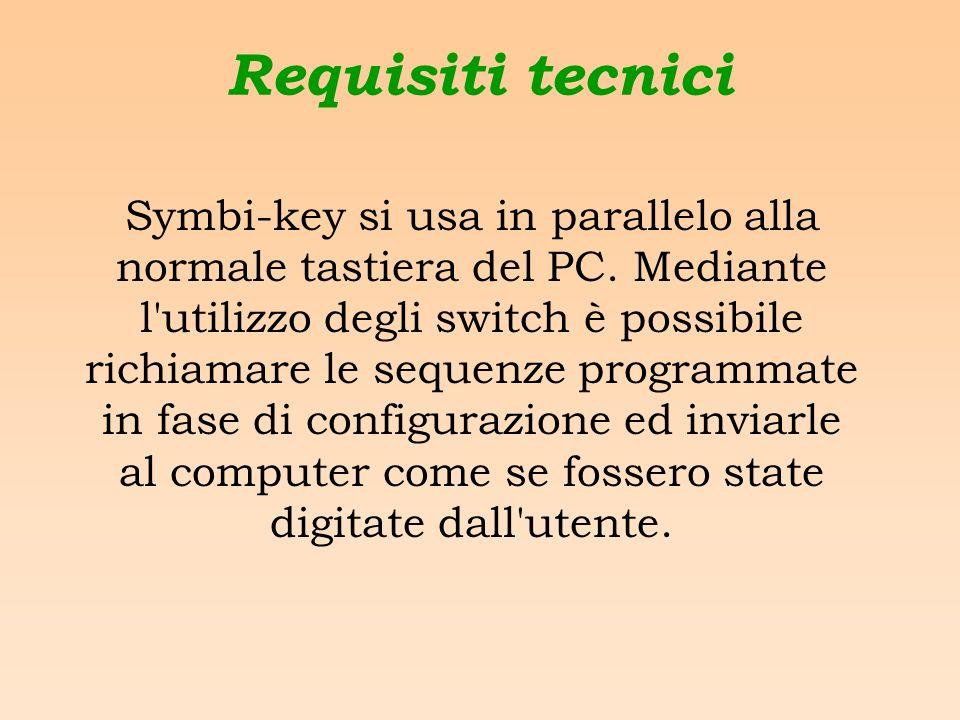 Requisiti tecnici Symbi-key si usa in parallelo alla normale tastiera del PC.