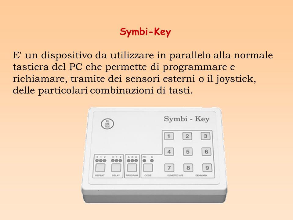 Symbi-key può essere usato per facilitare la digitazione di sequenze o combinazioni particolari di tasti grazie ai suoi 3 set di programmazione.